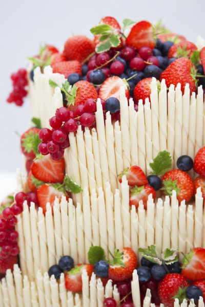Fresh Fruit and White Chocolate. What's not to love?!