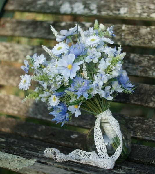 Pretty hand tied bouquet by Cooper Floral Design